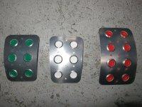 TEZZO Non-slip pedal mat (3 pieces) for Alfa Romeo Giulietta