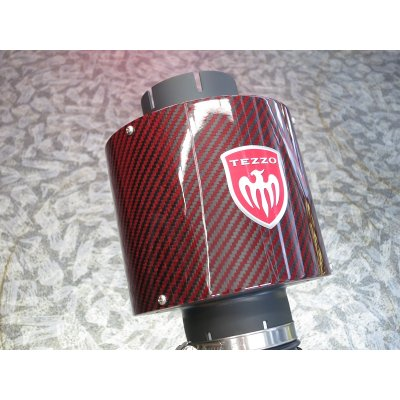 Photo5: TEZZO carbon air intake systam Ver.2 red carbon for Alfa Romeo 159