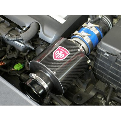 Photo1: TEZZO carbon air intake system Ver.2 red carbon for VW Golf VI GTI