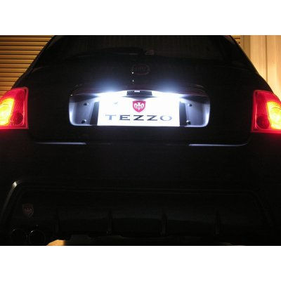 Photo1: TEZZO BASE LED license plate light for Fiat PANDA3