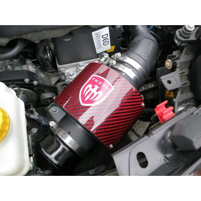 Photo5: TEZZO carbon air intake system Ver.2 red carbon for MiTo