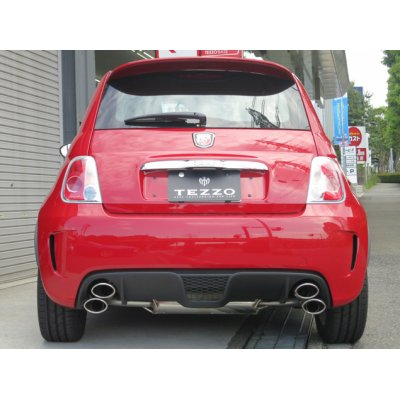 Photo2: TEZZO sports muffler for Abarth500/500C specialized for MT car