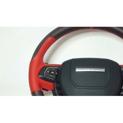 Photo2: Vallenlunga by TEZZO Steering wheel series made from real leather for Land rover Evoque