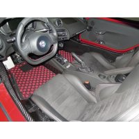 【Sail】【Left hand drive use】New TEZZO Style floor mat for Alfa 4c